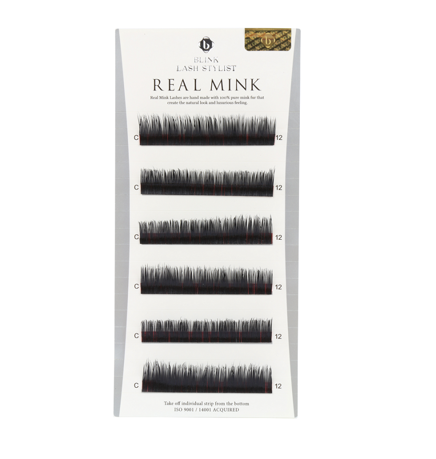 Mink Lashes Mixed Length B, C, D & J Curl Real Mink QBS